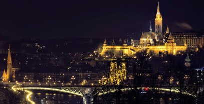 BUDAPEST, Fisherman's Bastion by night