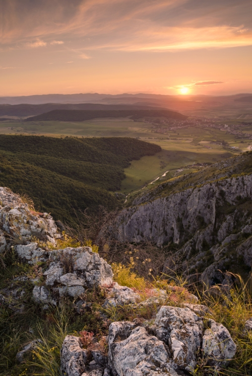 Apus de soare la Cheile Turzii