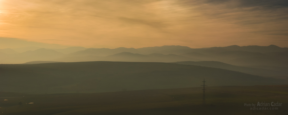 Hazy sunset