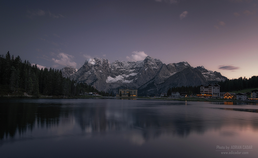 Misurina Lake at sunset - Dolomiti
