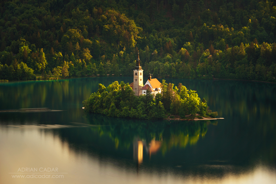 Sunset at Lake Bled